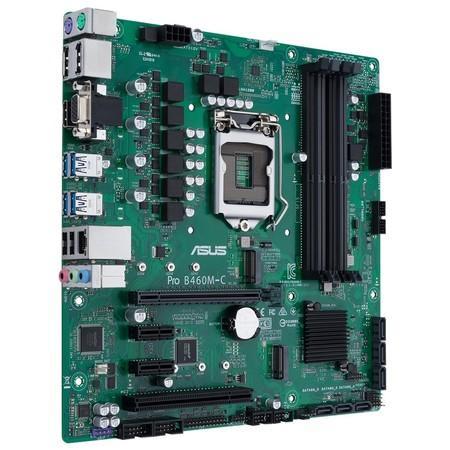 ASUS MB Sc LGA1200 PRO B460M-C/CSM, Intel B460, 4xdDR4, VGA, mATX, 90MB13S0-M0EAYC