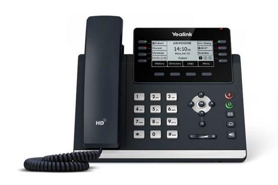 "Yealink SIP-T43U SIP telefon, PoE, 3,7"" 360x160 LCD, 21 prog.tl.,2xUSB, GigE, SIP-T43U"