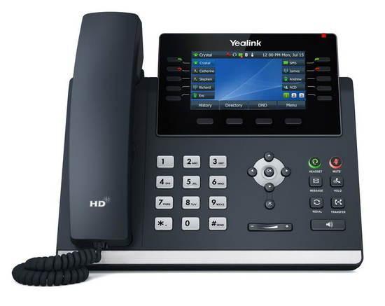"""Yealink SIP-T46U SIP telefon, PoE, 4,3"""" 480x272 LCD, 27 prog.tl.,2xUSB, Gig, SIP-T46U"""