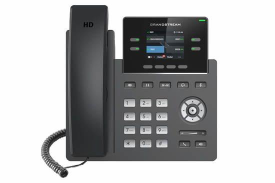 "Grandstream GRP2612W SIP telefon, 2.4"" TFT bar. displej, 2 SIP účty, 4 prog. tl., 2x10/100Mb, WiFi"