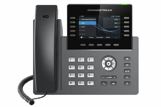 "Grandstream GRP2615 SIP telefon, 4.3"" TFT bar. displej, 16 SIP účty, 10 prog. tl., 2x1Gb, WiFi, BT, GRP2615"
