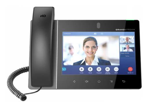 "Grandstream GXV3380 SIP video telefon8""TFT bar.dotyk.displ., android 7, 16 SIP úč.,7-way audiokonf.,, GXV3380"