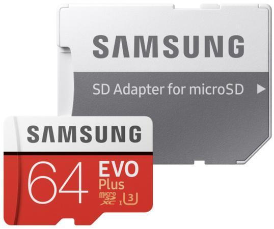 Micro SDXC 64GB Samsung EVO Plus + SD adaptér