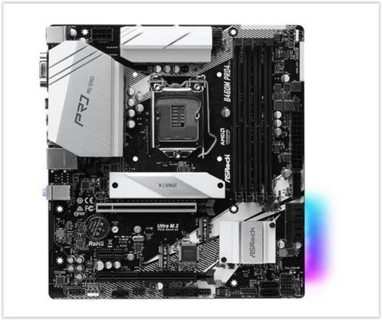 ASRock B460M PRO4 / LGA 1200 / Intel B460 / 4x DDR4 DIMM / D-Sub / HDMI / DP / USB Type-C / 2x M.2 / mATX, B460M PRO4