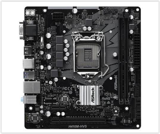 ASRock MB Sc LGA1200 H410M-HVS, Intel H410, 2xDDR4, VGA, mATX, H410M-HVS