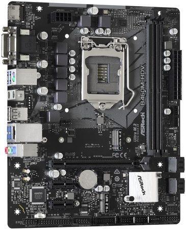 ASRock MB Sc LGA1200 B460M-HDV, Intel B460, 2xDDR4, VGA, mATX, B460M-HDV