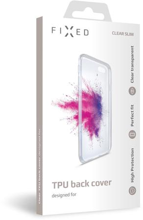 Pouzdro FIXED TPU gelové Apple iPhone Xr, čiré