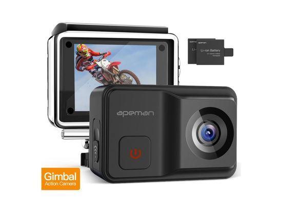 Odolná digitální kamera Apeman A85, 4K, Gimbal, vodotěsná do 30m, IP68