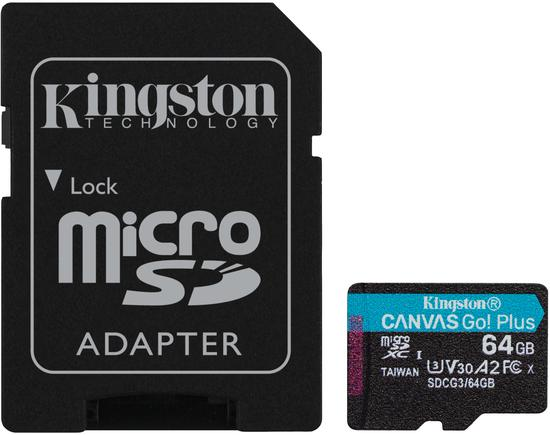 KINGSTON MicroSDXC 64GB U3 V30 70MB/W