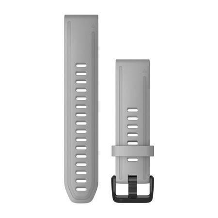 Řemínek Garmin QuickFit 20mm pro Fenix5S/6S, silikonový, šedý, černá přezka