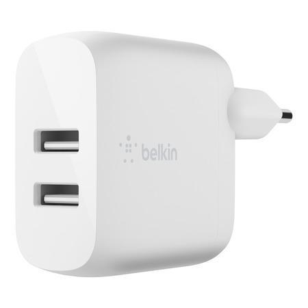 Belkin Duální USB-A domácí nabíječka 2x12W, bílá, WCB002vfWH