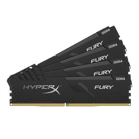 Kingston DDR4 64GB (Kit 4x16GB) HyperX FURY DIMM 3200MHz CL16 černá, HX432C16FB4K4/64