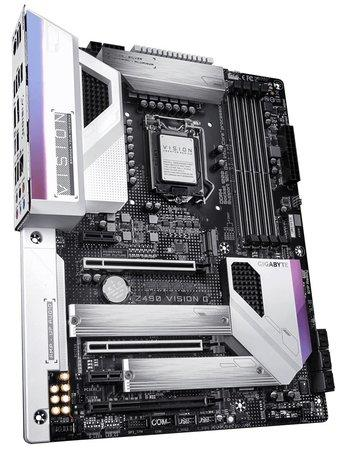 GIGABYTE Z490 VISION G LGA 1200 ATX DDR4 6xSATA 11xUSB 2xM.2 HDMI 1xLAN 2.5Gbps MB, Z490 VISION G