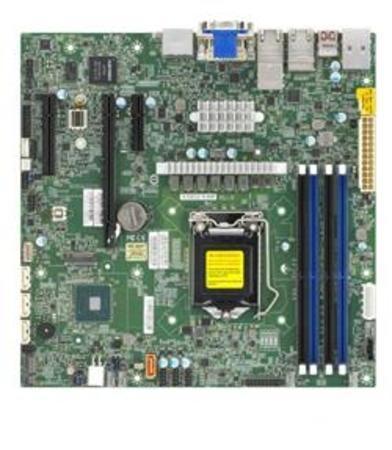 SUPERMICRO MB LGA1200 1U(Xeon W-12xx, core), W480,4xDDR4,4xSATA3,M.2,3xPCIe3.0 (16/4/4),2xDP,DVI,Audio,2x10Gb+2x1Gb,IPMI, MBD-X12SCZ-TLN4F-O