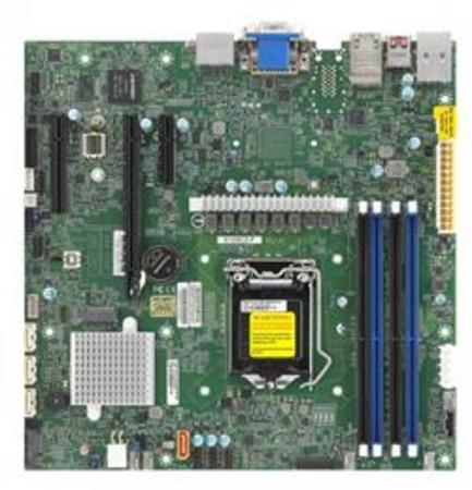 SUPERMICRO MB LGA1200 1U(Xeon W-12xx, core), W480,4xDDR4,4xSATA3,M.2,3xPCIe3.0 (16/4/4),2xDP,DVI,Audio,2x1Gb,IPMI, MBD-X12SCZ-F-O