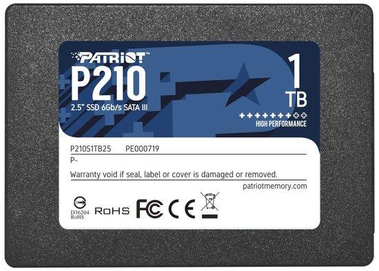 "PATRIOT P210 1TB SSD / 2,5"" / Interní / SATA 6GB/s / 7mm, P210S1TB25"