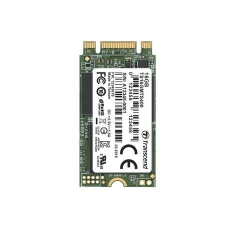 TRANSCEND MTS400 16GB SSD disk M.2 2242, SATA III 6Gb/s (MLC), 530MB/s R, 470MB/s W, TS16GMTS400