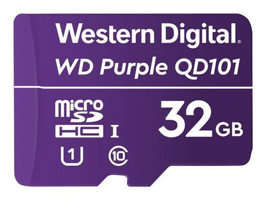 WD Purple 32GB Surveillance microSD HC - Class 10 UHS 1