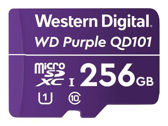 WD Purple 256GB Surveillance microSD XC Class - 10 UHS 1