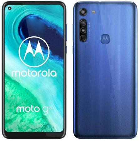 Motorola Moto G8 4+64GB DS gsm tel. Neon Blue