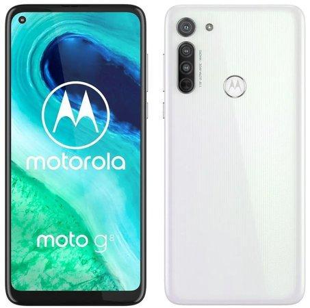Motorola Moto G8 4+64GB DS gsm tel. Pearl White