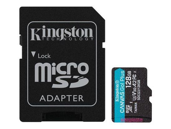 Kingston paměťová karta 128GB microSDXC Canvas Go Plus 170R A2 U3 V30 Card + ADP
