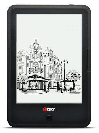 E-book C-TECH Lexis II (EBR-62), quad core, Android 4.4, dotyková HD obrazovka s dvojím podsvícením, Wi-Fi, 8GB, černý, EBR-62