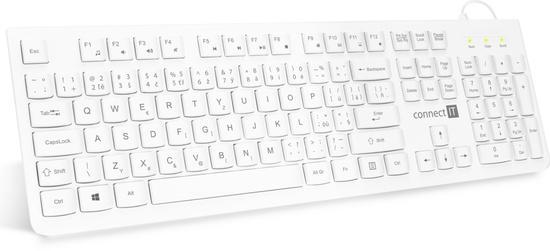 CONNECT IT kancelářská chocolate klávesnice, CZ + SK verze, USB, bílá, CKB-2101-CS
