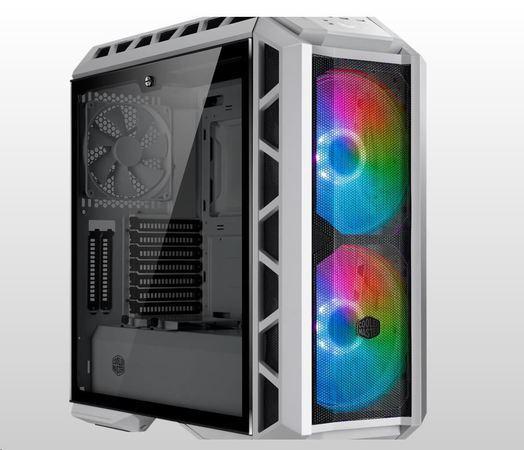 Cooler Master case MasterCase H500P Mesh White ARGB, E-ATX, Mid Tower, bílá, bez zdroje, MCM-H500P-W