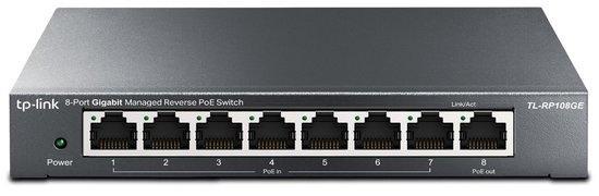TP-LINK TL-RP108GE Gigabit Reverse PoE Smart Switch 7x Passive PoE-in 1x Passive PoE-out MTU/VLAN/QoS/IGMP/web man., TL-RP108GE