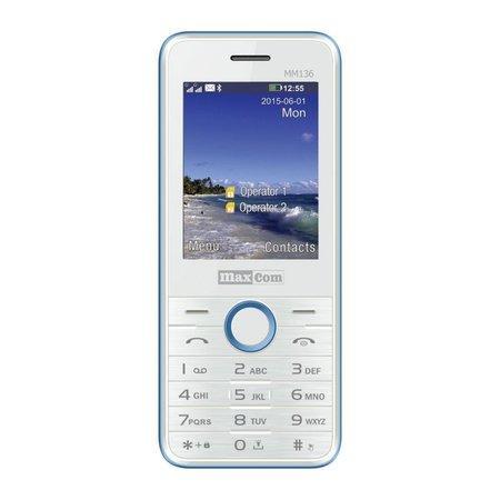 Mobilní telefon MAXCOM Classic MM136, CZ lokalizace, bílo-modrý