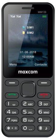 Mobilní telefon MAXCOM Classic MM139, CZ lokalizace, černý
