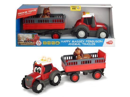 Traktor Happy Massey Ferguson s přívěsem 30 cm