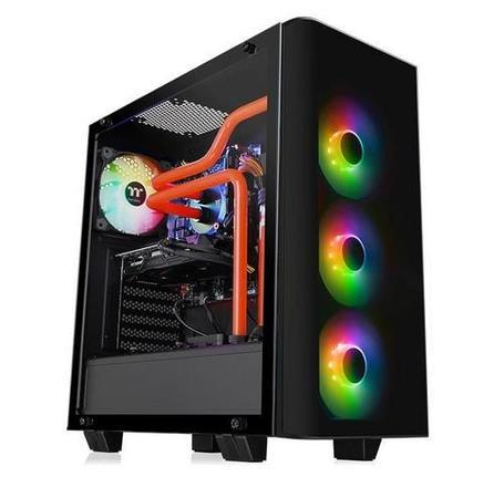 THERMALTAKE case View 21 TG RGB PLUS černý s oknem, 2x TG, 4x fan 120mm RGB (ATX case bez zdroje), CA-1I3-00M1WN-05
