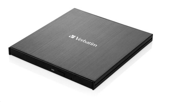 Externí DVD vypalovačka Verbatim CD/DVD Slimline USB-C + Nero, 43886