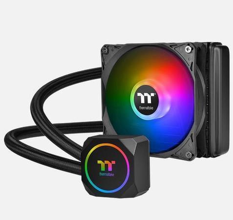 THERMALTAKE TH120 ARGB Sync AIO Liquid Cooler komplet vodního chlazení CPU, chladič 120mm s 1x ventilátorem 120mm (pro INTEL a AMD), CL-W285-PL12SW-A