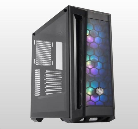 Cooler Master case MasterBox MB511 aRGB, E-ATX, Mid Tower, černá, bez zdroje, MCB-B511D-KGNN-RGA