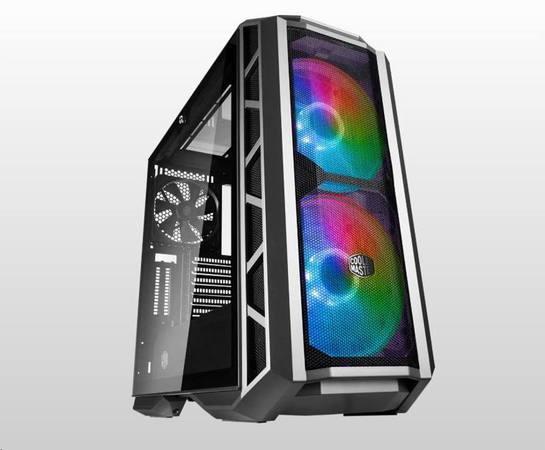 Cooler Master case MasterCase H500P Mesh ARGB, E-ATX, Mid Tower, šedá, bez zdroje, MCM-H500P-MGNN-S1