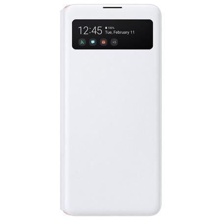 Pouzdro na mobil flipové Samsung S-View Galaxy A51 - bílé