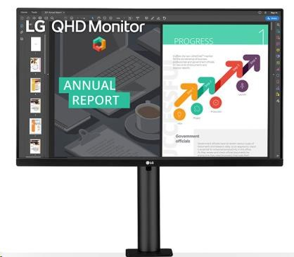 """LG MT IPS LCD LED 27"""" 27QN880 - IPS panel, 2560x1440, 2xHDMI, DP, USB-C, repro, ergonomicky stojan"""