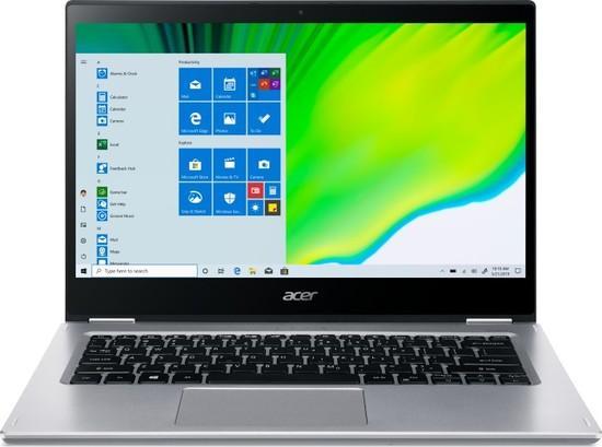 """Acer Spin 3 (SP314-54N-572R) i5-1035G4, 16GB, 1024 GB, 14"""", Full HD, bez mechaniky, Intel Iris Plus Graphics, BT, CAM, W10 Home - stříbrný, NX.HQ7EC.002"""