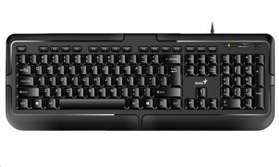 GENIUS klávesnice KB-118, PS2, CZ+SK black (černá), 31300010415