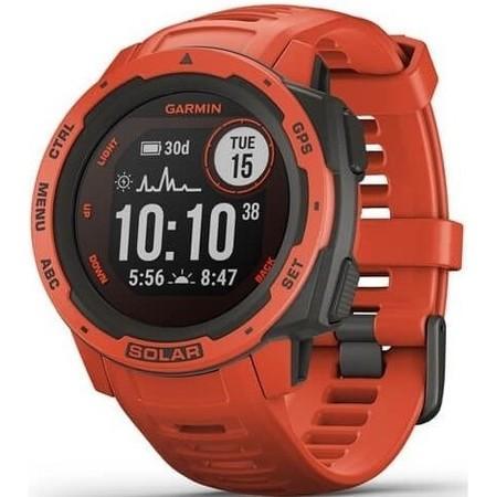 GPS hodinky Garmin Instinct Solar Optic - červená