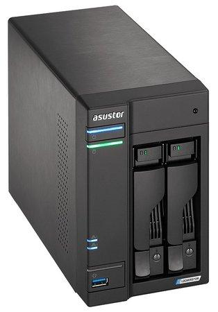 "Asustor NAS AS6602T / 2x 2,5""/3,5"" SATA III/ Intel Celeron J4125 2.0 GHz/ 4GB/ 2x 2.5GbE/ 3x USB 3.0/ HDMI+IR, AS6602T"