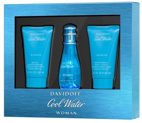 Davidoff Cool Water W EDT 30ml + SG 50ml + BL 50ml