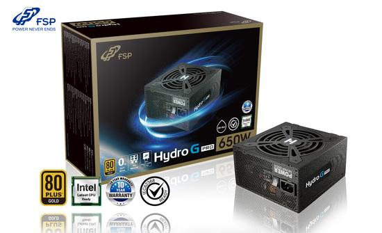 FORTRON zdroj HYDRO G 650 PRO 650W / ATX / 120mm fan / akt. PFC / 80PLUS Gold / cable management, PPA6505001