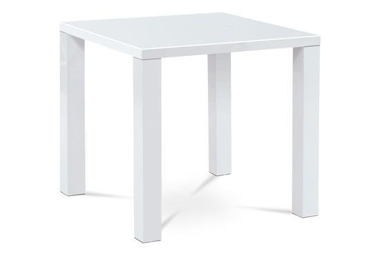 Autronic AT-3005 WT Jídelní stůl 80x80x76 cm, vysoký lesk bílý