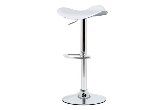 Autronic AUB-440 WT Barová židle, bílá ekokůže, chromová podnož, výškově nastavitelná