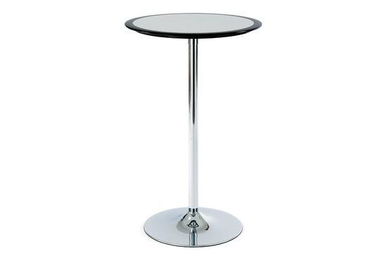 Autronic AUB-6050 BK Barový stůl černo-stříbrný plast, pr. 60 cm