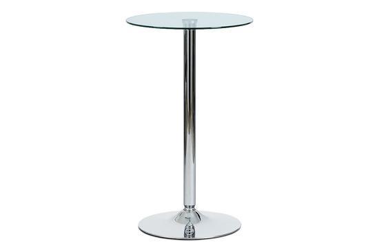 Autronic AUB-6070 CLR Barový stůl čiré sklo / chrom, pr. 60 cm